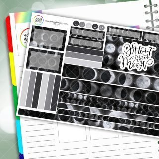 Shoot For The Moon Passion Planner Daily Sticker Kit