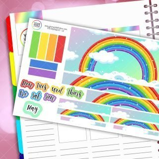 Rainbows Monthly Passion Planner Daily Sticker Kit