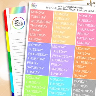 Passion Planner Medium Date Cover Planner Stickers - Pastels