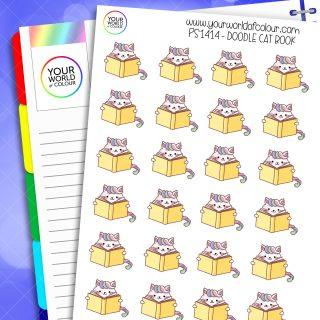 Doodle Cat Book Planner Stickers