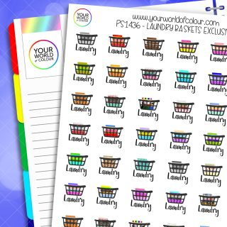 Laundry Baskets Planner Stickers