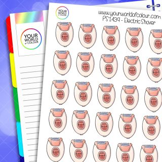 Electric Shaver Planner Stickers