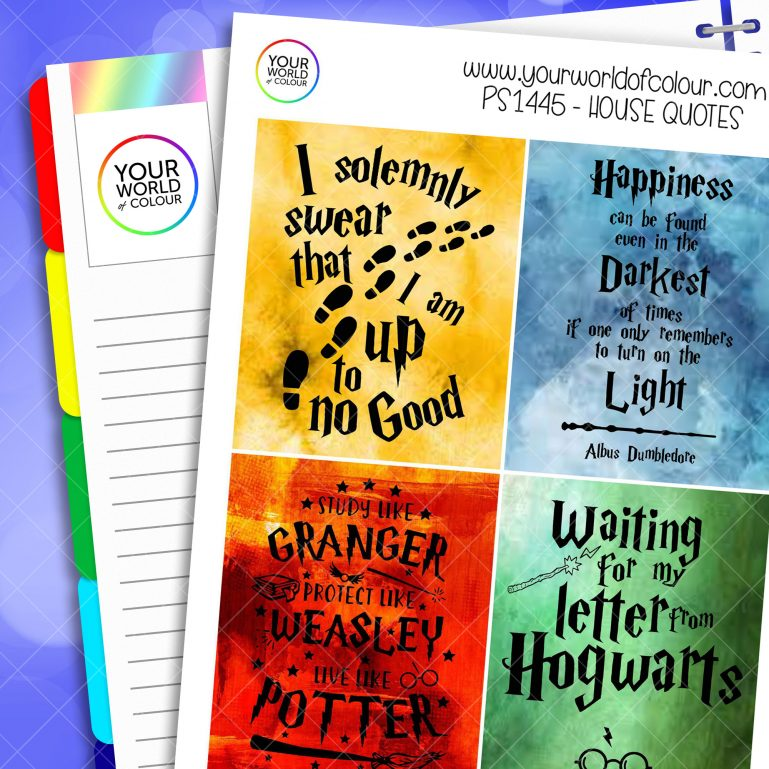 House Quotes Full Boxes Planner Stickers