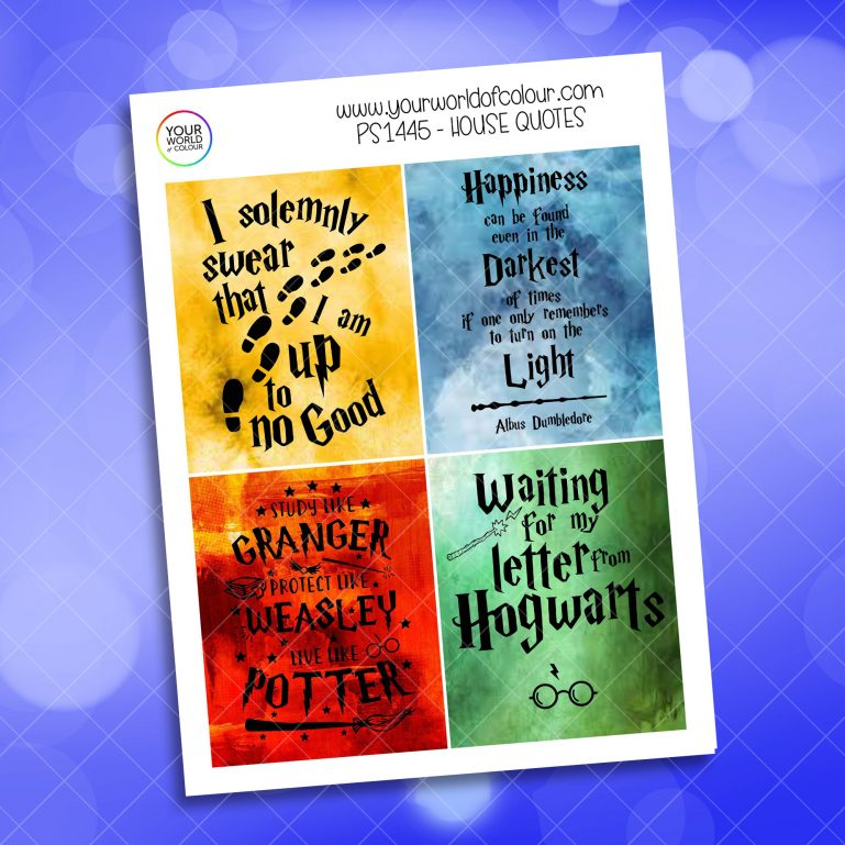 House Quotes Full Boxes Planner Sticker