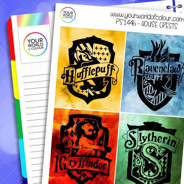 House Crests Full Boxes Planner Stickers