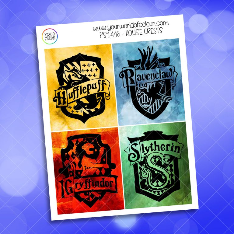 House Crests Full Boxes Planner Sticker