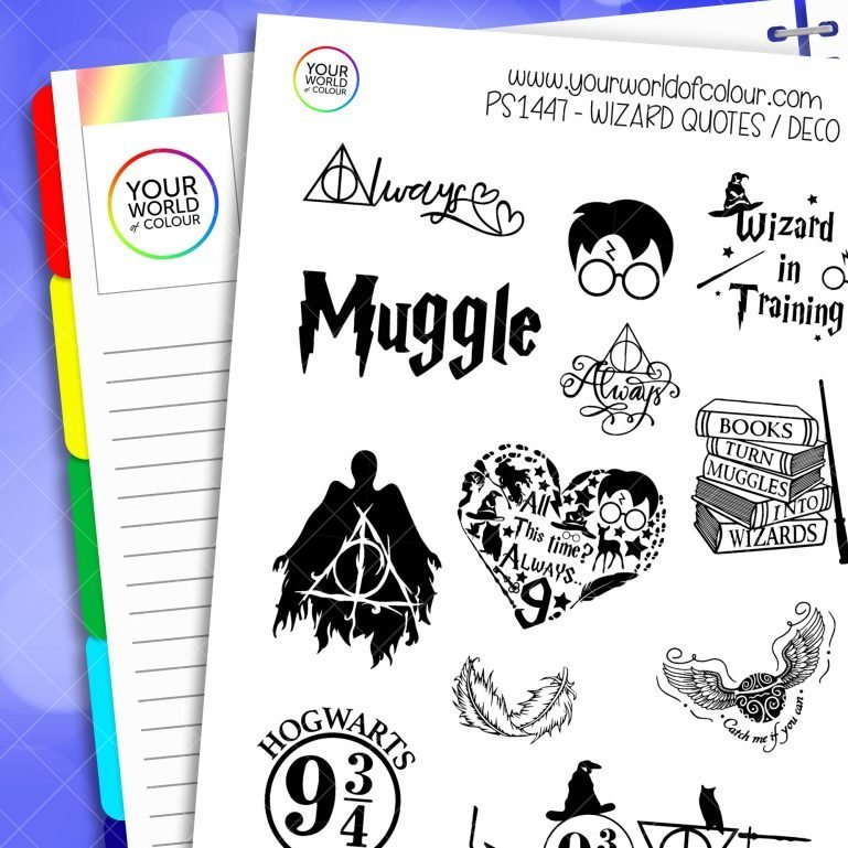 Wizard Quotes Planner Stickers