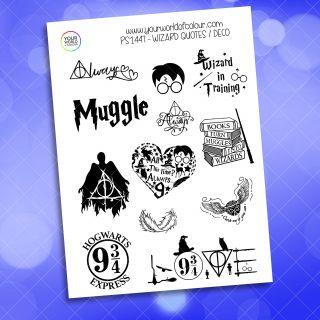 Wizard Quotes Planner Sticker