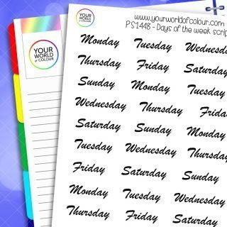 Days Of The Week Script Planner Stickers