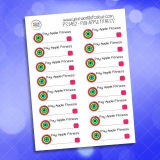 Pay Apple Fitness Planner Sticker