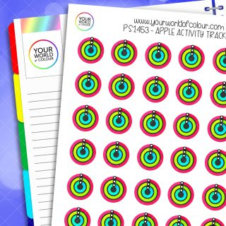 Apple Activity Tracker Planner Stickers