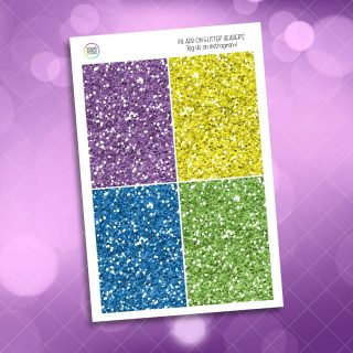 Be A Rainbow Weekly Kit glitter headers