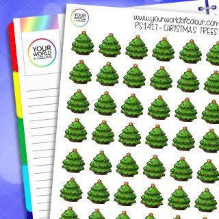 Christmas Trees Planner Stickers