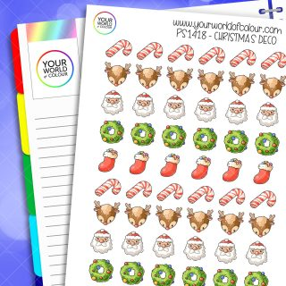Christmas Deco Planner Stickers
