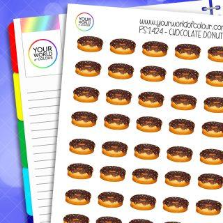 Chocolate Donut Planner Stickers