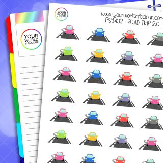Road Trip Planner Stickers 2.0