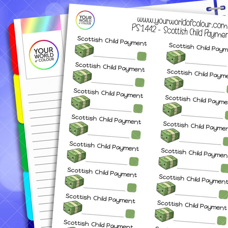 Scottish Child Payment Planner Stickers