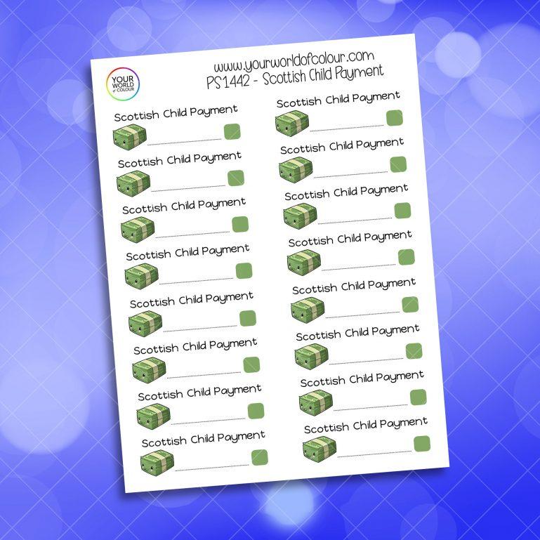 Scottish Child Payment Planner Sticker