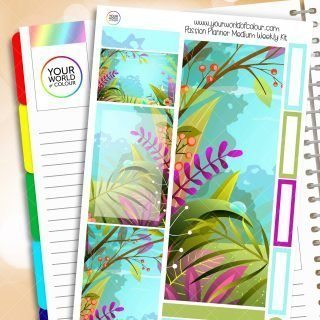 Tropical Forest Passion Planner Weekly Kit