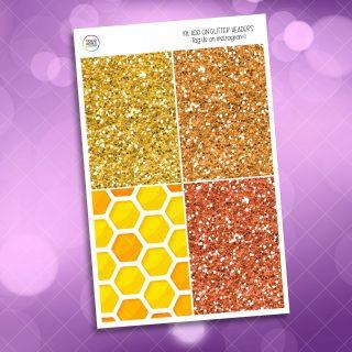 Queen Bee Weekly Kit glitter headers