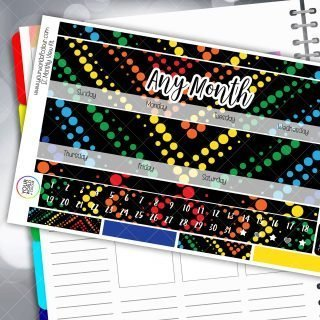 Techno Vibes Monthly Planner Sticker Kit