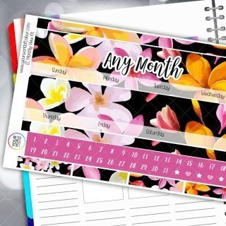 Tropicana Fresh Monthly Planner Sticker Kit
