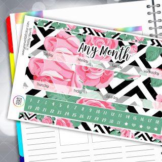 Roses Monthly Planner Sticker Kit