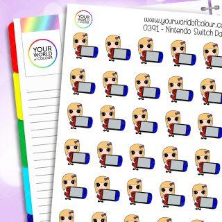 Nintendo Switch Daisy Character Stickers