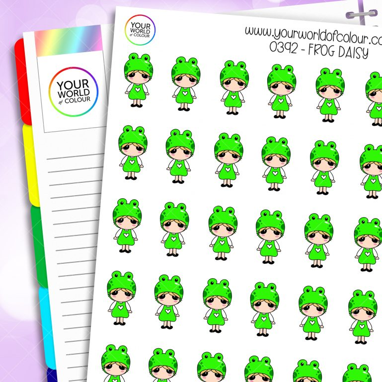 Frog Daisy Character Stickers