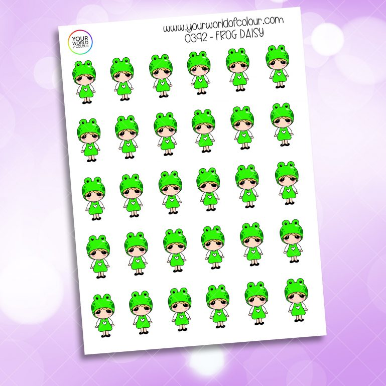 Frog Daisy Character Sticker