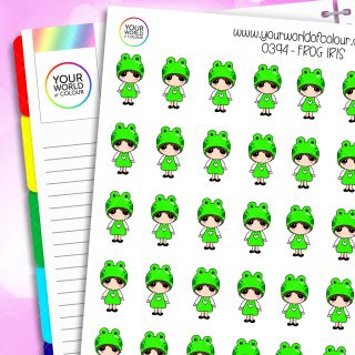 Frog Iris Character Stickers