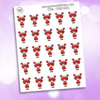 Crab Daisy Character Sticker