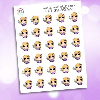Breakfast Daisy Character Sticker