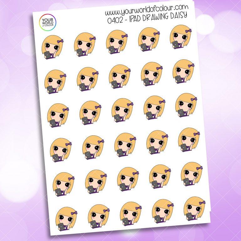 Ipad Drawing Daisy Character Sticker
