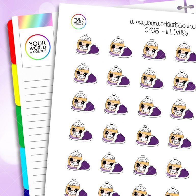 Ill Daisy Character Stickers