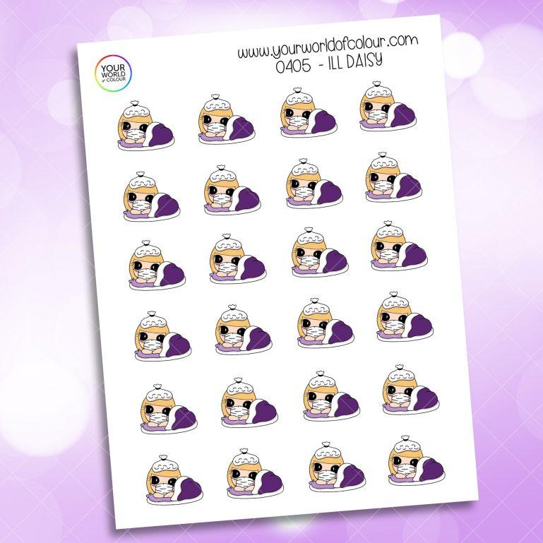 Ill Daisy Character Sticker