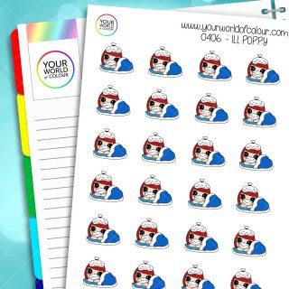 Ill Poppy Character Stickers