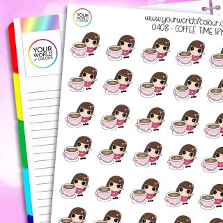 Coffee Time Iris Character Stickers