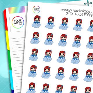 Cocoa Poppy Character Stickers