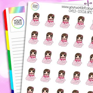 Cocoa Iris Character Stickers