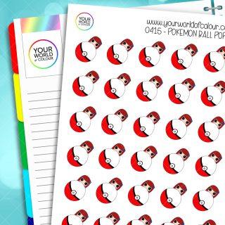 Pokemon Ball Poppy Character Stickers