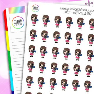 Australia Iris Character Stickers