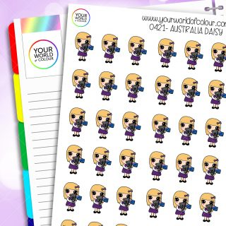 Australia Daisy Character Stickers