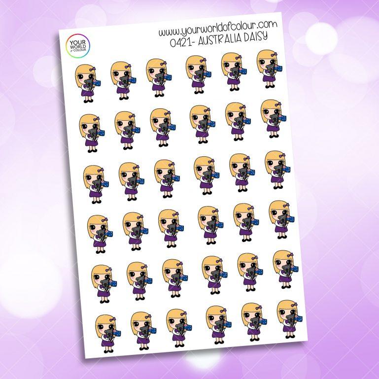 Australia Daisy Character Sticker