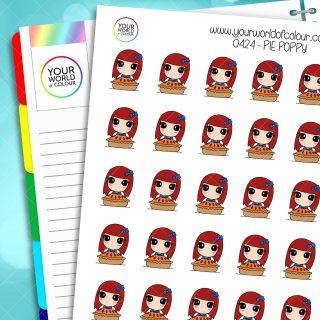 Pie Poppy Character Stickers