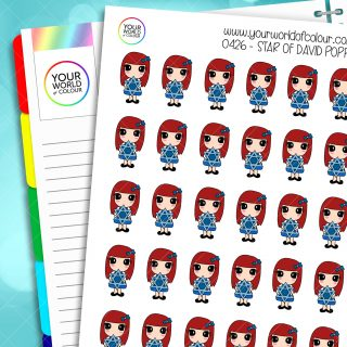 Star Of David Poppy Character Stickers