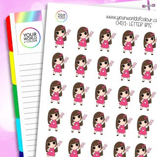 Letter Iris Character Stickers