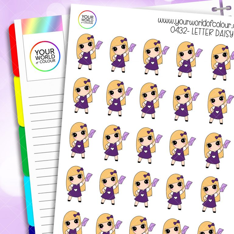 Letter Daisy Character Stickers