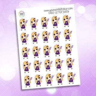 Letter Daisy Character Sticker