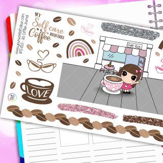 Coffee Journalling Iris Planner Stickers